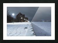 Forzen canal in Copenhagen Picture Frame print