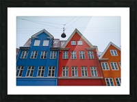 The red and blue house in Copenhagen Picture Frame print