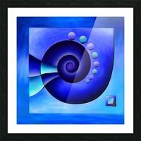 Escanissimera - endlessly limited blue spiral snail Picture Frame print