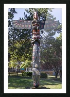 Totem Poles in Thunderbird Park Victoria BC 11 Picture Frame print