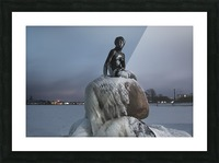 Frozen statue of The Little Mermaid Picture Frame print