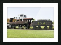CPR train 374 Picture Frame print