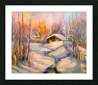 Winter morning Picture Frame print