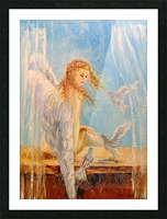 Angel on the window Picture Frame print
