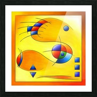 Mesmezegoria - another colourful abstract Picture Frame print