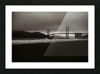 B&W Golden Gate Impression et Cadre photo