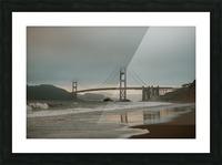 Golden Gate in the smog Impression et Cadre photo