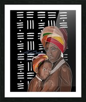 African Motherhood Picture Frame print
