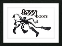Octopus in Boots Picture Frame print