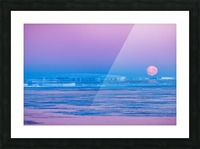 Low Moonset Close Up Picture Frame print