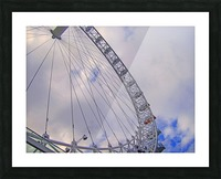 Looking up at The London Eye Picture Frame print