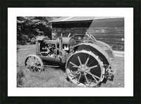 McCormick-Deering gasoline tractor 2 B&W Picture Frame print