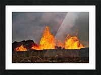 Leilani Estates Lava fountain Picture Frame print