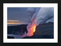 Lava hose Picture Frame print