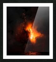 Lava explosion Picture Frame print