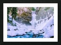 Semi frozen falls Picture Frame print