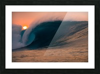 Giant surf Picture Frame print