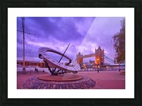Sundial and Tower Bridge Picture Frame print