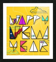 Happy New Year Picture Frame print