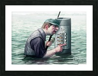 Call for fish by Krzysztof Grzondziel Picture Frame print