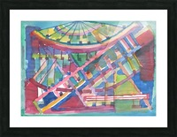 Architectural abstraction the facade of the building watercolor Picture Frame print