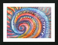 Watercolor abstract spiral staircase Picture Frame print
