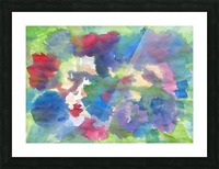 Watercolor abstraction with a blurred floral pattern Picture Frame print