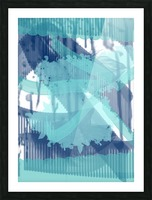 WATERCOLOR_BLUE ABSTRACKT Picture Frame print
