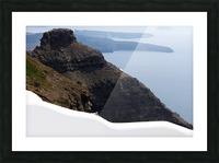 Skaros Rock - Santorini Picture Frame print