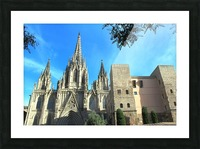 Amazing Barcelona Cathedral Picture Frame print