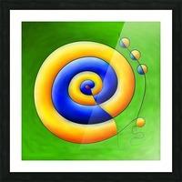 Neosmirana - running space snail Picture Frame print