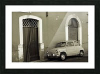 Vintage Car in Black and White Picture Frame print