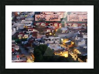 Town rendering Picture Frame print