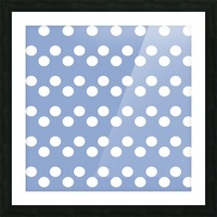 Serenity Polka Dots Picture Frame print