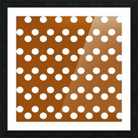 RUST Polka Dots Picture Frame print