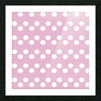 Sweet Lilac Polka Dots Picture Frame print