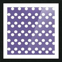 Ultra Violet Polka Dots Picture Frame print
