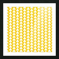 Yellow  White triangle Picture Frame print