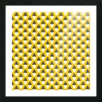 Yellow   pyramid Picture Frame print