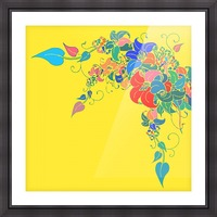 Vibrant Floral Design  Picture Frame print