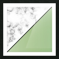 ABSTRACT MODERN YELLOW GREEN MARBLE Picture Frame print