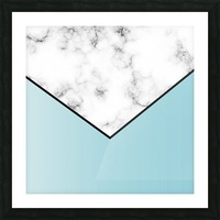 ABSTRACT BLUE TINT MODERN MARBLE Picture Frame print