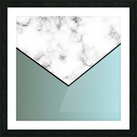 ABSTRACT GRAYISH BLUE MODERN MARBLE Picture Frame print