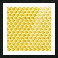 YELLOW MERMAID PATTERN Picture Frame print