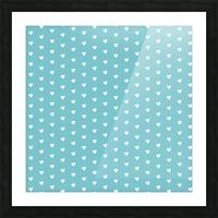 Cadet Blue Heart Shape Pattern Picture Frame print