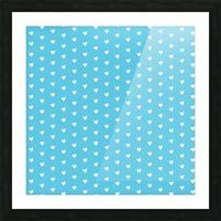 AQUA Heart Shape Pattern Picture Frame print