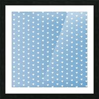 Blue Grey Heart Shape Pattern Picture Frame print