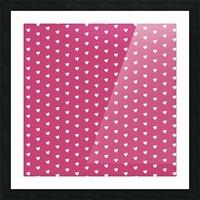 Fuchsia Rose Heart Shape Pattern Picture Frame print