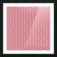 Light Red Heart Shape Pattern Picture Frame print