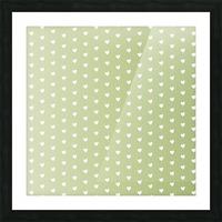 Kids Green Heart Shape Pattern Picture Frame print